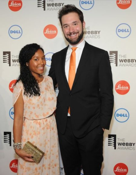 Sabriya Stukes with her ex-partner, Alexis Ohanian at the 18th Annual Webby Awards