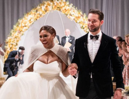 Alexis Ohanian and Serena Williams united as husband and wife
