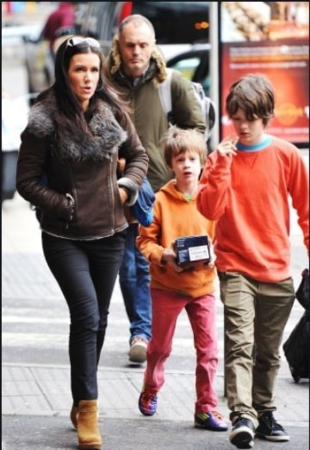 Susanna Reid with her two children and Dominic Cotton