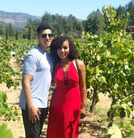 MJ Acosta with her boyfriend in the Vineyard at Napa Valley
