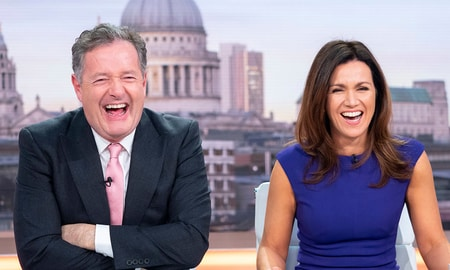 Piers Morgan and Susanna Reid in the Good Morning Britian show