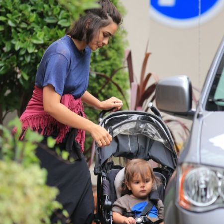 Shannyn and her son getting into car
