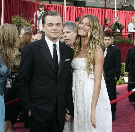 Gisele Bundchen and Leonardo DiCaprio at the 77th Academy Awards