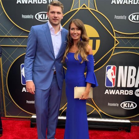 Mirjam and her son attending NBA Awards