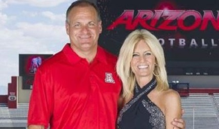 Rita Setliff and Rich Rodriguez