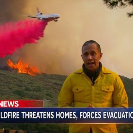 Miguel reporting the wildfire of Santa Barbara