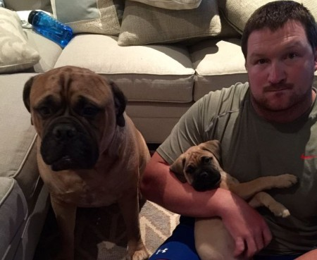 Bryan Bulaga adores his pet dog who are Tosa breeds