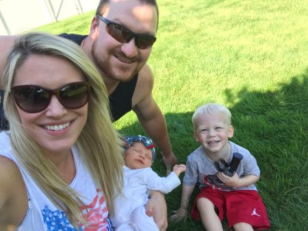 Bryan Bulaga and his wife, Abbie Mumpower with their two sweet children