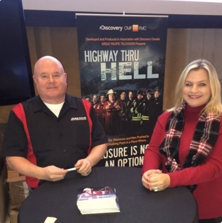 Adam Gazzola and his wife Lucy Austin in the show Highway through Hell