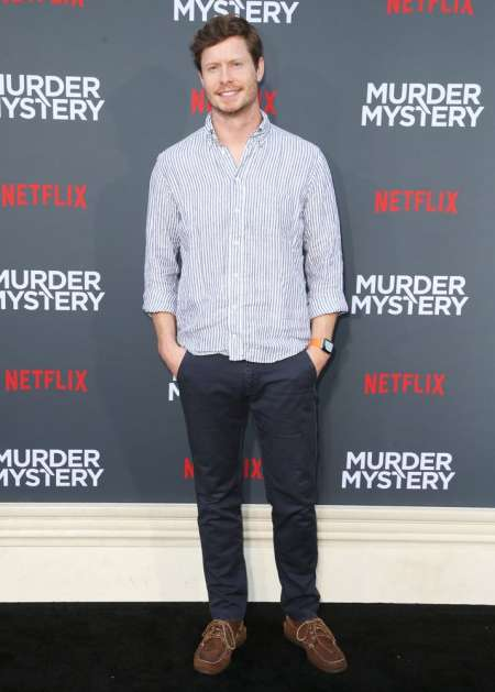 Anders Holm at the premiere of Netflix's Murder Mystery