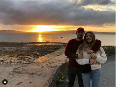 Daniel Neeson and Natalie Ackerman enjoying a beautiful sunset in Belfast