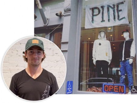 Daniel Neeson clothing store Pine Outfitters in New York