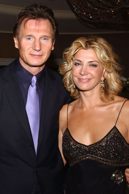 Liam Neeson with his late wife Natasha Richardson at an award event