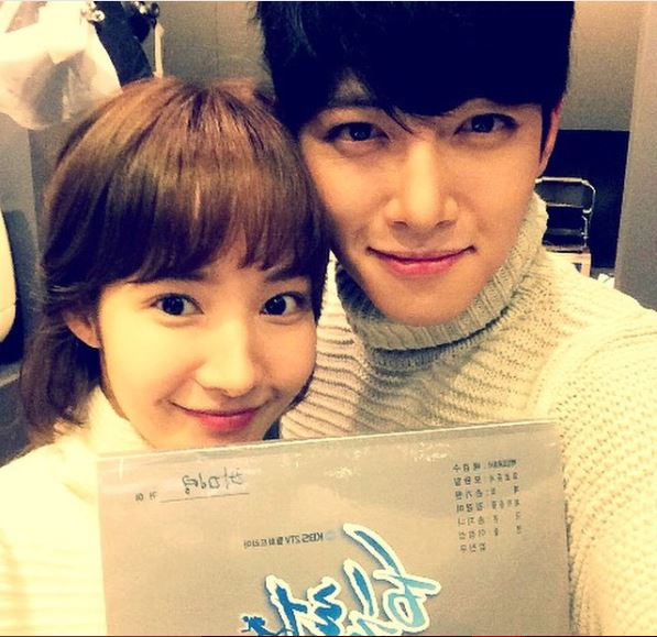 Ji Chang-Wook with his Healer co-star Park Min Young