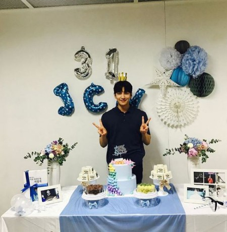 Ji Chang-Wook celebrating his 31st birthday