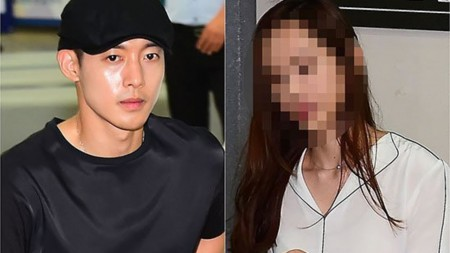 Kim Hyun-Joong and Ms. Choi who filed a false lawsuit against Kim; her face is blurred