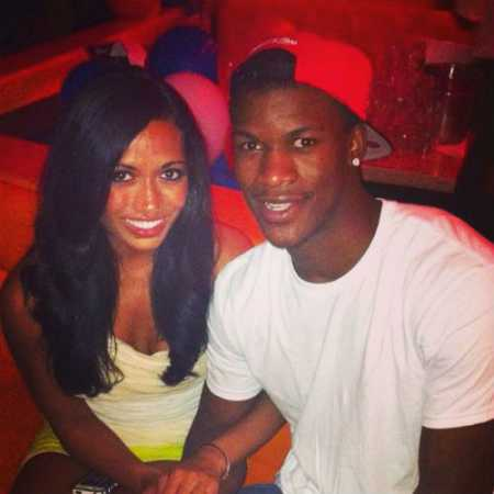 Charmaine Piula with her partner, Jimmy Butler