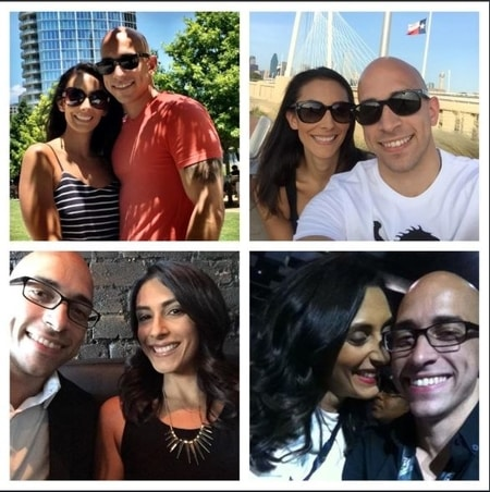Collage of Ali Turiano and her fiance Ismael Santiago enjoying their holiday