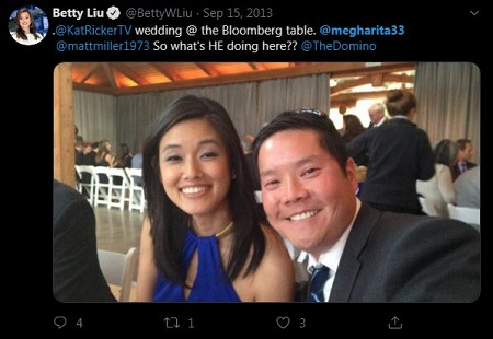 Dominic Chu and his spouse known by her twitter username megharita33 picture: Dominic and his wife