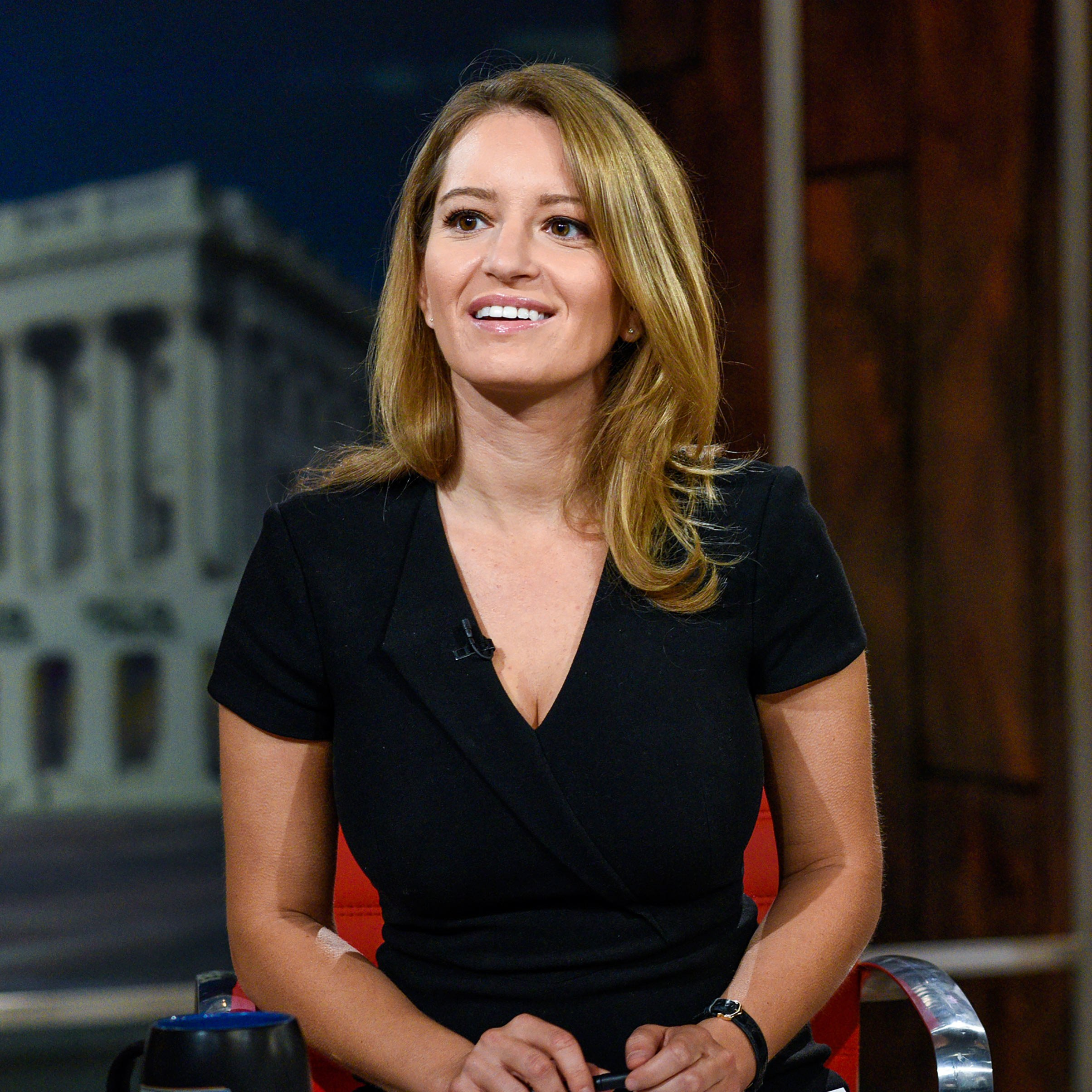 Zoey Tur's daughter, Katy Tur in her black dress