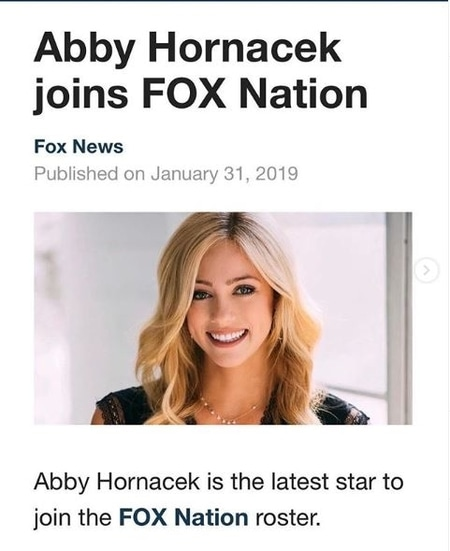 Abby Hornacek joins Fox Nation