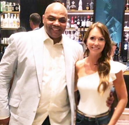 Mirjam Poterbin uploading picture with Charles Barkley on Instagram.