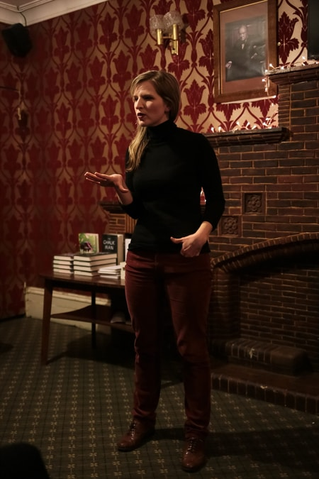 Tara Westover at the writer's community in London