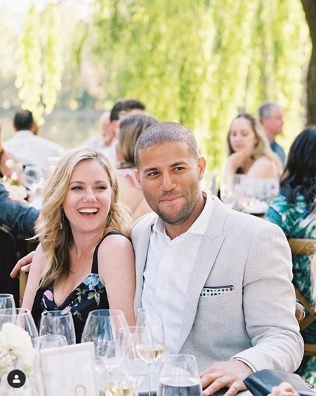 Jaymee and Justin at their friend's wedding