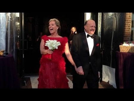 Jim Cramer and Lisa Cadette during their wedding day held in Brooklyn.