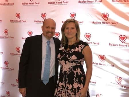 Jim and his wife Lisa at a fundraising program, Babies Heart Fund