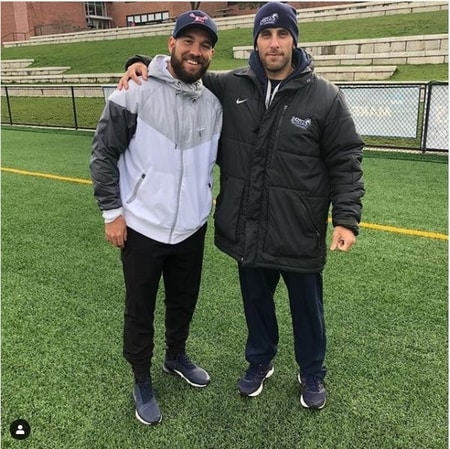 Jordan Levine with his assistant coach