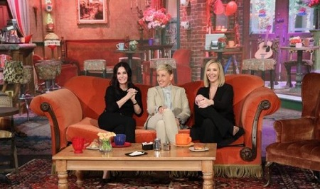 Ellen, Courtney Cox and Lisa Kudrow