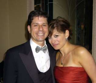 Jonathan Steinberg and Maria Bartiromo at the 60th anniversary ball of the year gala