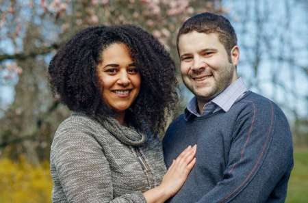 Christopher Krovatin with his wife, Azara Golston