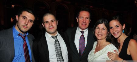 Gerald Krovatin and Anna Quindlen with their children at Barnard College's 2010 Scholarship dinner & auction