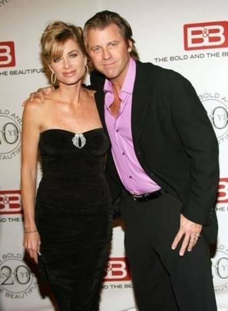 Vincent and his wife at the event of soap opera The Bold and the Beautiful