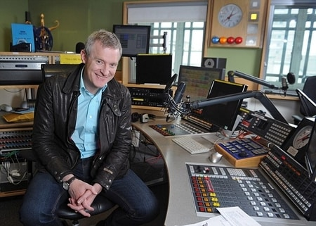 Jeremy Vine at work with BBC radio 2