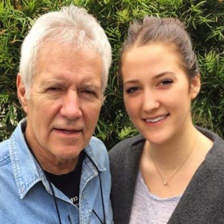 Trebek and his daughter, Emily