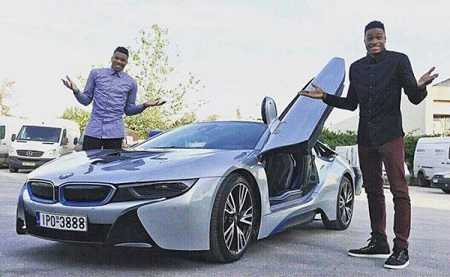 Giannis with his sports car BMW I8