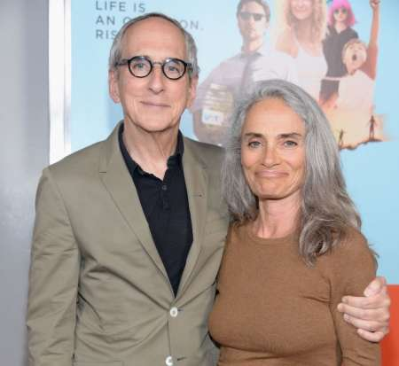 Michael Shamberg and his wife, Carla Santos Shamberg at the premiere of Wish I Was Here