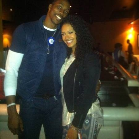 Dwight Howard and his ex-girlfriend, Christine Vest