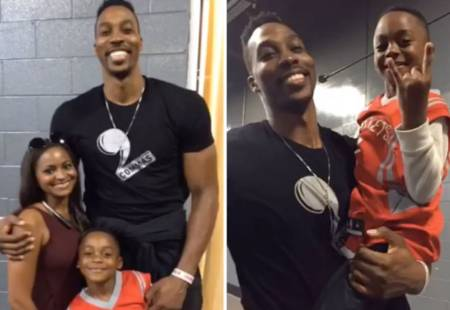 Braylon Howard with his parents, Dwight Howard and Royce Reed