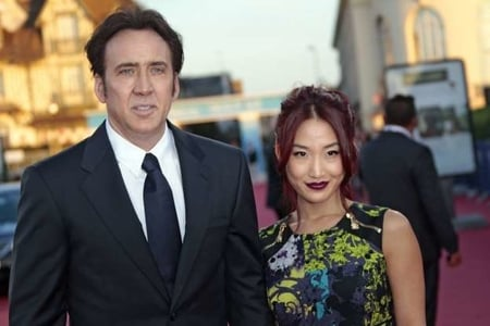 Nicholas Cage with his ex-wife Erika Koike