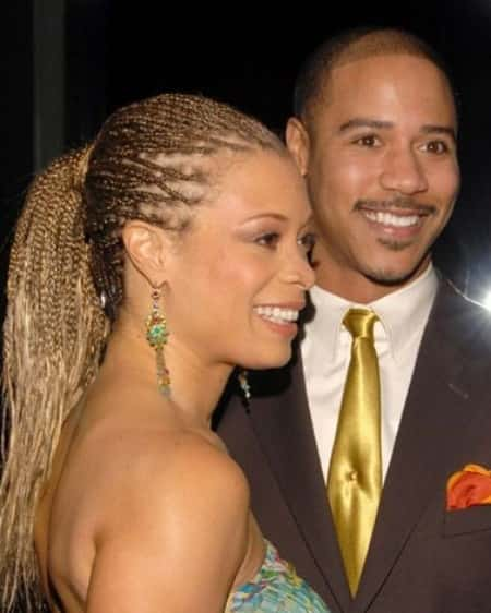 Valarie Pettiford with her former spouse Brian White