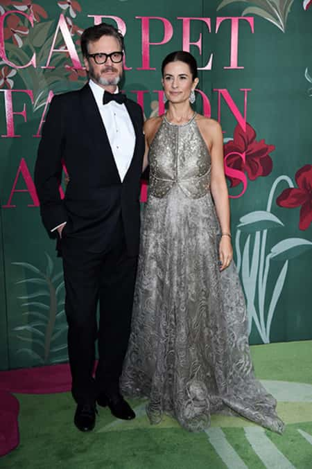 Colin Firth with his former wife Livia Giuggiolo