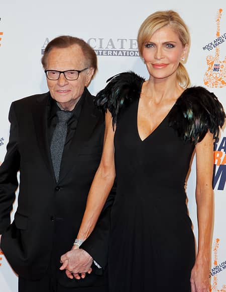Larry King and his former spouse Shawn Southwick King