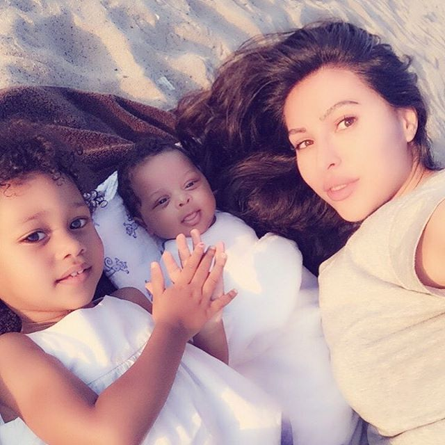 Lilit with her daughter and son