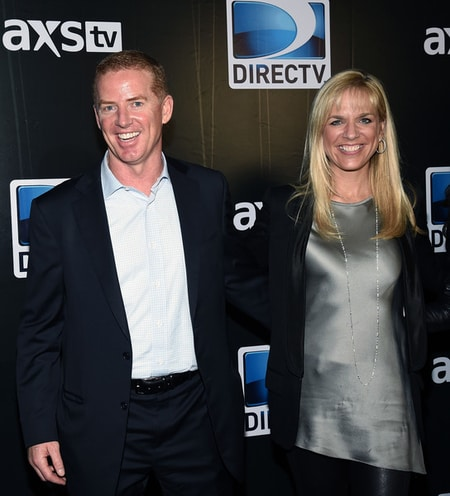 Jason with his wife Brill at the Direct TV launch