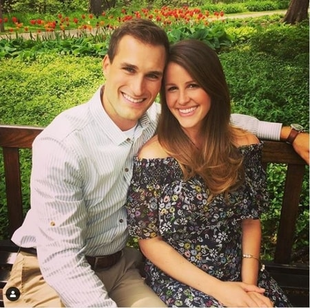 Kirk Cousins with his wife Julie at the Michigan State University