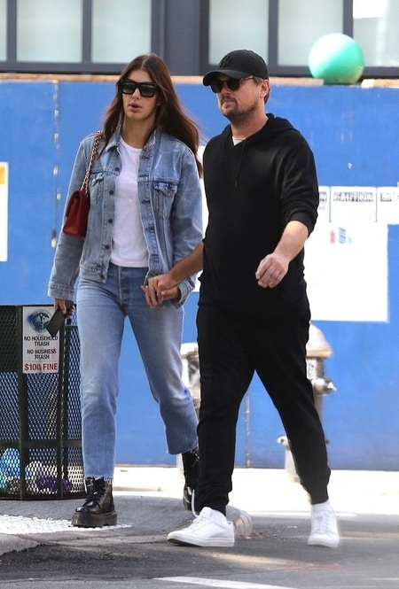 Leonardo DiCaprio and Camila Morrone spotted walking holding the hands